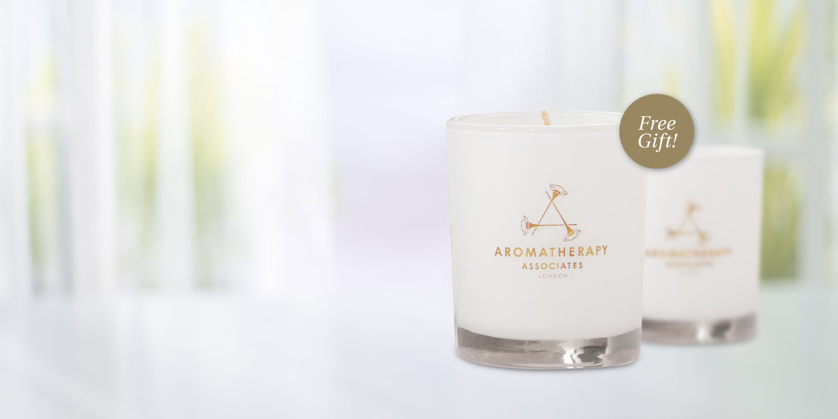 FREE mini aromatherapy candle with your $99 purchase