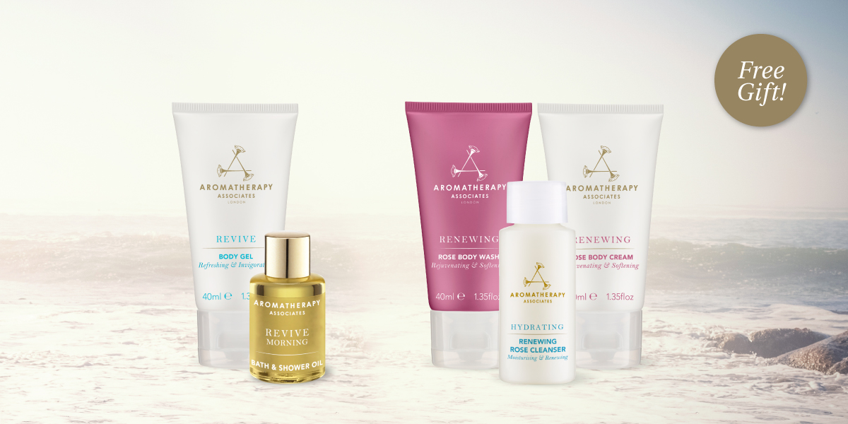 Complimentary travel size gifts with any $50 or $75 purchase.
