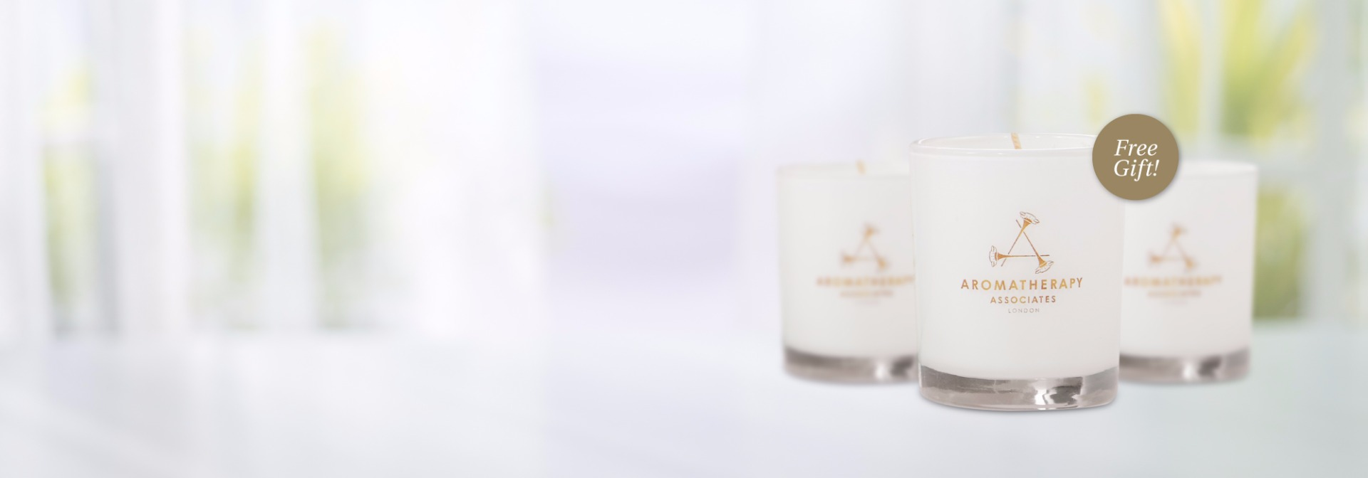 Complimentary mini aromatherapy candle with your $99 purchase